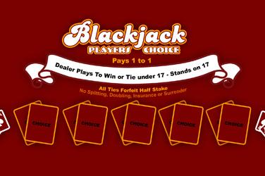 1×2-Gaming: Blackjack players choice