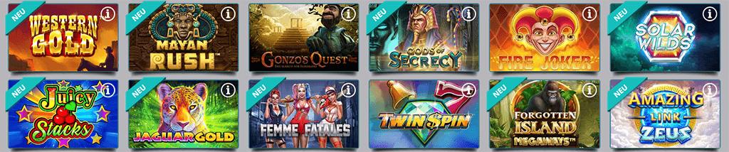 Spieleangebot im Karamba Casino
