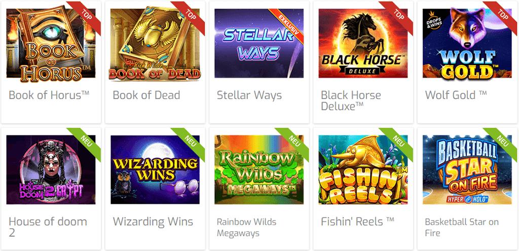 Spieleangebot im Lapalingo Casino