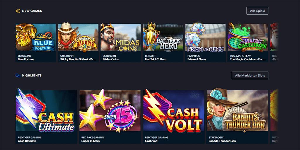 Spielautomaten im Slotsmillion Casino