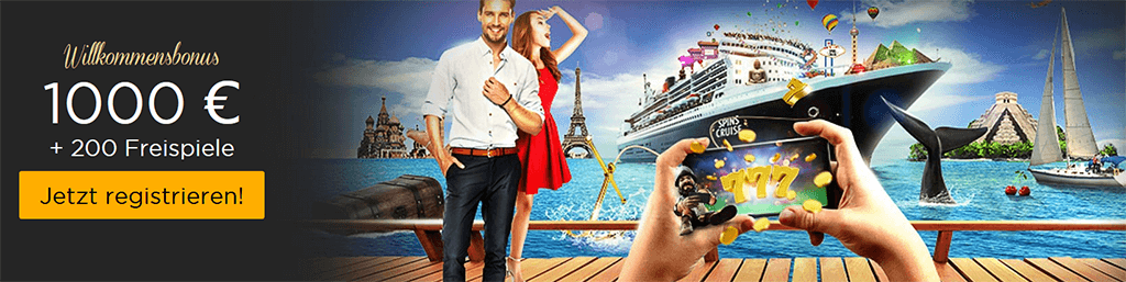 Bonusangebot im Spins Cruise Casino