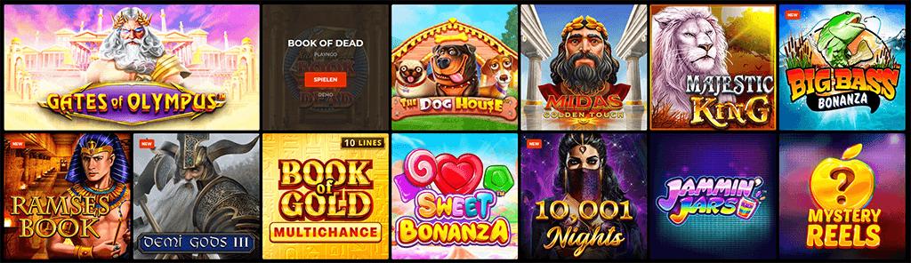 Die Spieleauswahl im N1 Casino
