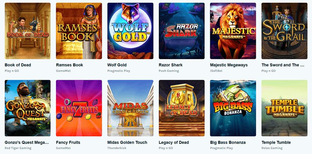 Spieleangebot im Lucky Days Casino