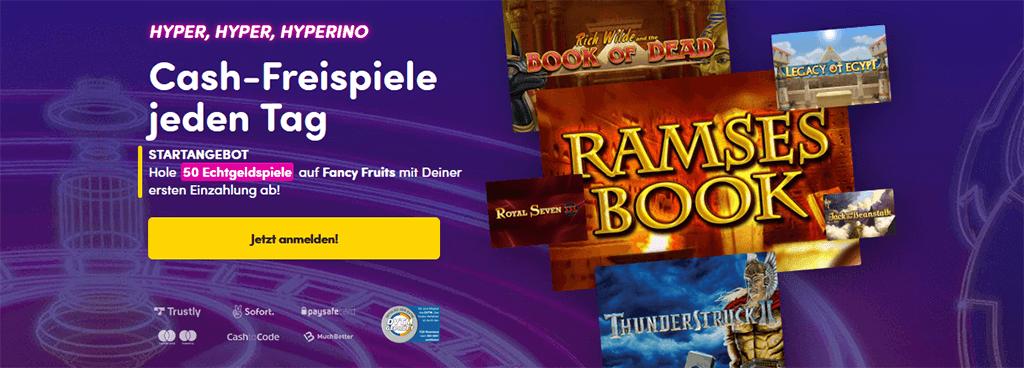 Willkommensbonus im Hyperino Casino