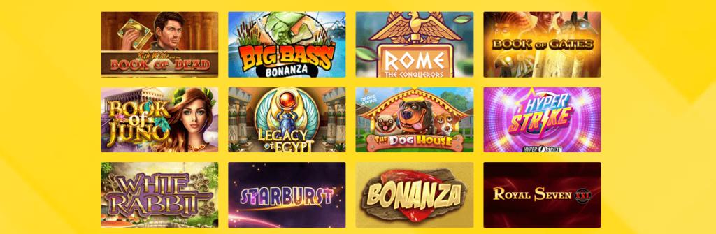 Spieleangebot im Hyperino Casino