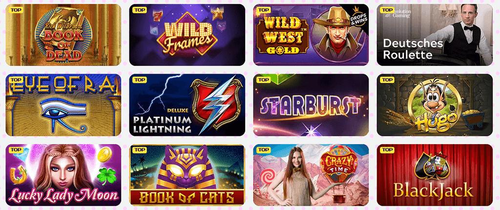 Spieleauswahl im Kimvegas Casino