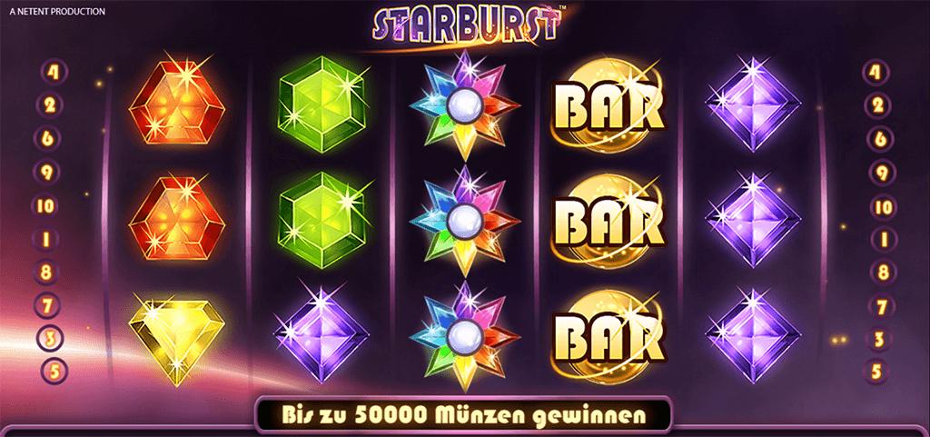Spielsymbole bei Starburst