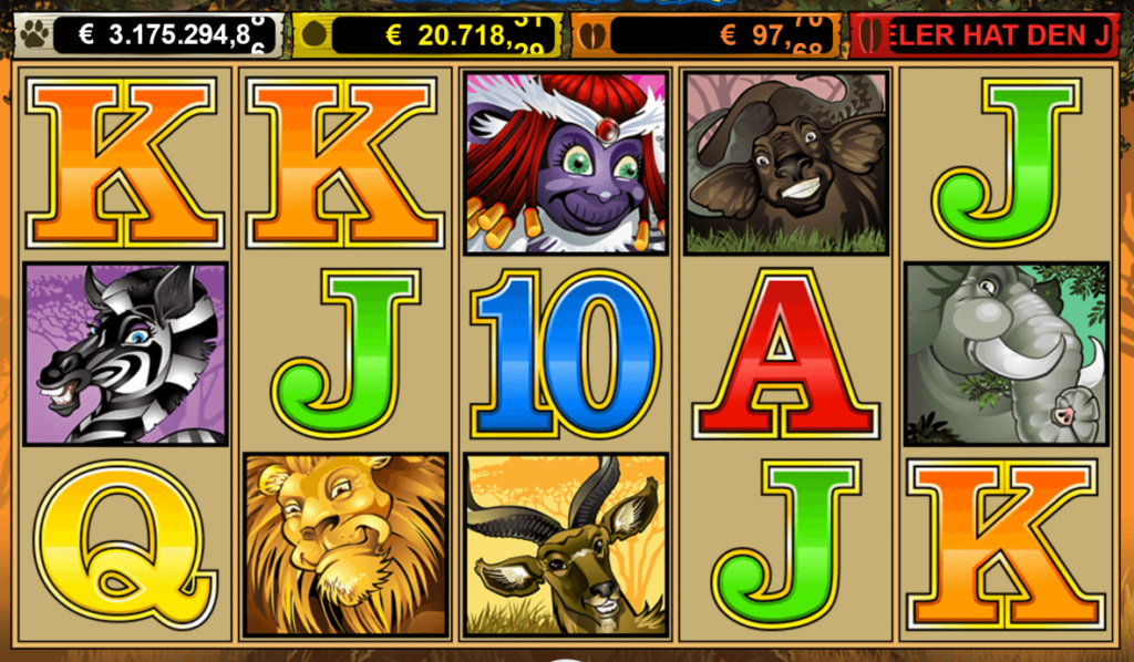 Spielsymbole bei Mega Moolah