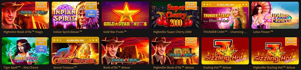 Spiele im Stargames Casino